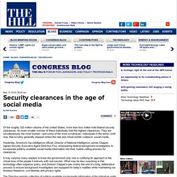 Security clearances in the age of social media