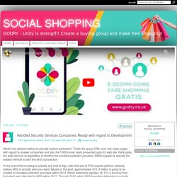 Handled Security Services Companies Ready with regard to Development - SOCIAL SHOPPING