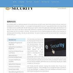 Security guard companies in Fort Lauderdale and Miami Florida