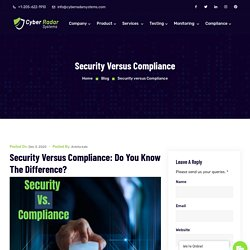 Security Vs. Compliance: Read Difference