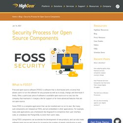 Security Process for Open Source Components