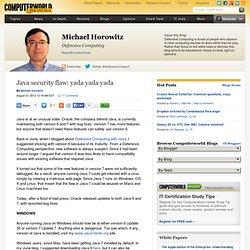 Java security flaw: yada yada yada