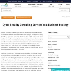 Cyber Security Consulting Services as a Business Strategy