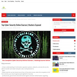 Top Cyber Security Online Courses