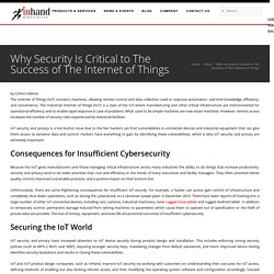 Why Security Is Critical to the Success of the Internet of Things