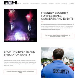 Crowd and Event Security from one of the UKs best security companies
