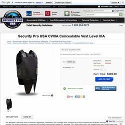 Security Pro USA CVIIIA Concealable Vest Level IIIA