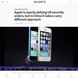 Apple is openly defying US security orders, but in China it takes a very different approach