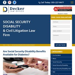 Are Social Security Disability Benefits Available for Diabetes?