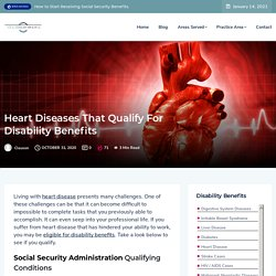 Heart Diseases that Qualify for Disability Benefits