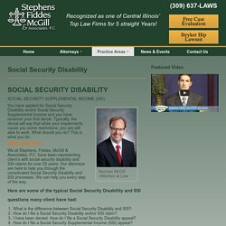 Social Security Disability - Stephens Fiddes McGill