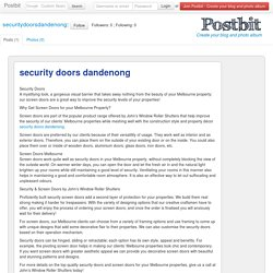 security doors dandenong