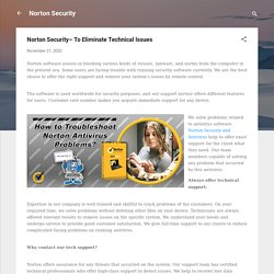 Norton Security– To Eliminate Technical Issues