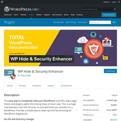 WP Hide & Security Enhancer – WordPress plugin