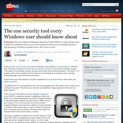 The one security tool every Windows user should know about
