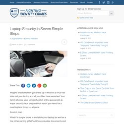 Laptop Security in 7 Simple Steps