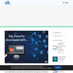 Org Security Fundamentals!!!... - Cloud Analogy