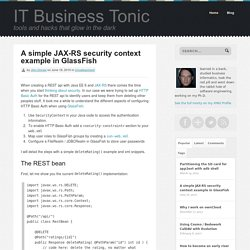 A simple JAX-RS security context example in GlassFish