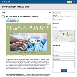 Why Email Security Services are Important than Ever