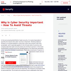 Why is Cyber Security Important - How To Avoid Threats