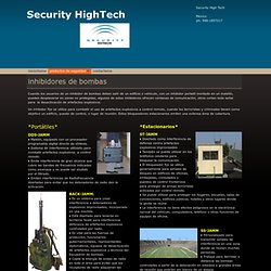 Security - Inhibidores de bombas