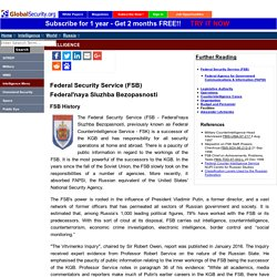 Federal Security Service (FSB) - Russia / Soviet Intelligence Agencies