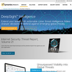 Security Intelligence - Deep Sight Intelligence