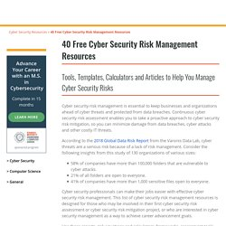 40 Free Cyber Security Risk Management Resources