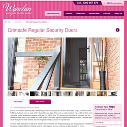 Security Doors Sydney & Melbourne
