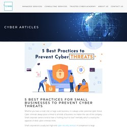 5 Smart Cyber Security Methods against Cyber Threats