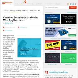 Common Security Mistakes in Web Applications - Smashing Magazine