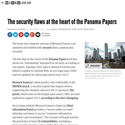 Panama Papers: The security flaws at the heart of Mossack Fonseca