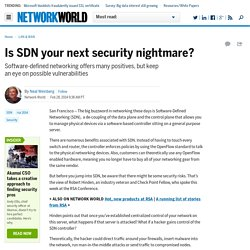 Is SDN your next security nightmare?