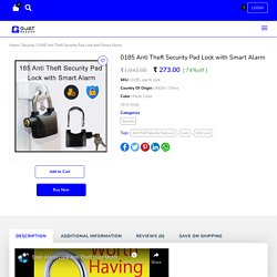 Anti Theft Security Pad Lock with Smart Alarm Online - GjatBazaar