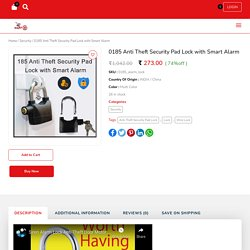 Anti Theft Security Pad Lock with Smart Alarm Online at Best Price