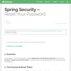 Spring Security – Reset Your Password