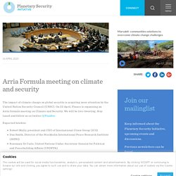 Arria Formula meeting on climate and security