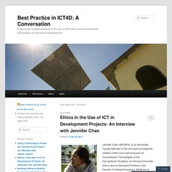 Best Practice in ICT4D: A Conversation