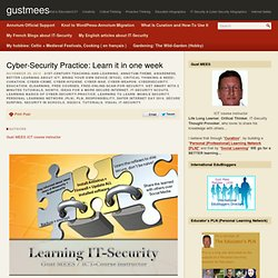 Cyber-Security Practice: Learn it in one week – gustmees