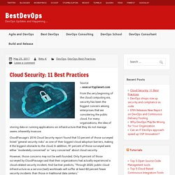 Cloud Security: 11 Best Practices – BestDevOps