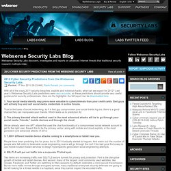 2012 Cyber Security Predictions from the Websense Security Labs