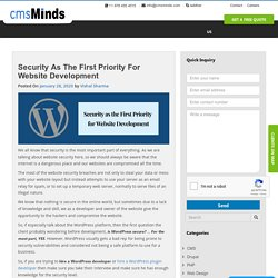 Security as the First Priority for Website Development