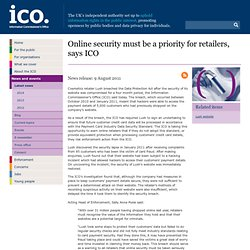 Online security must be a priority for retailers - ICO news release