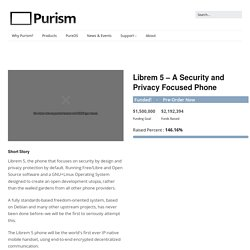 Librem 5 – A Security and Privacy Focused Phone – Purism