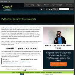Free Python for Security Professionals Training Class