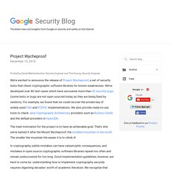 Google Online Security Blog: Project Wycheproof