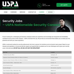Security Jobs - Close Protection Bodyguard Careers