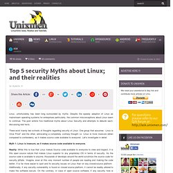 Top 5 security Myths about Linux; and their realities
