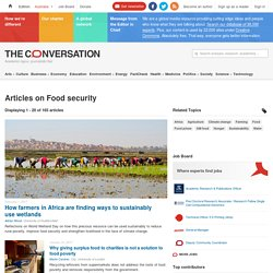 Food security – News, Research and Analysis – The Conversation – page 1
