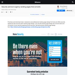 Security service & agency landing pages that converts on Behance